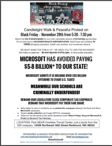 Black Friday Boycott Microsoft Rally